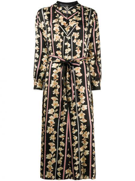 Платье миди облегающее с цветочным принтом Forte Forte