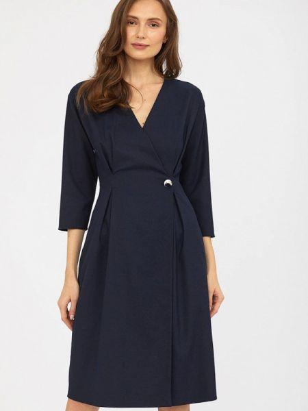 Платье с запахом синее Calista