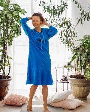 Платье миди велюровое Mix-mode