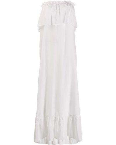 Платье макси без бретелек хлопковое Fisico