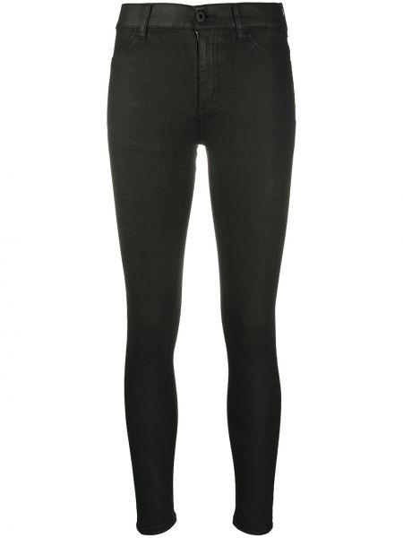 Хлопковые с завышенной талией черные джинсы-скинни Dondup