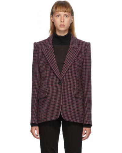 Черный удлиненный пиджак с подкладкой с воротником Isabel Marant Étoile