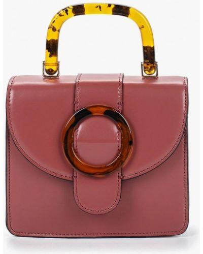 Кожаный сумка через плечо розовый Topshop
