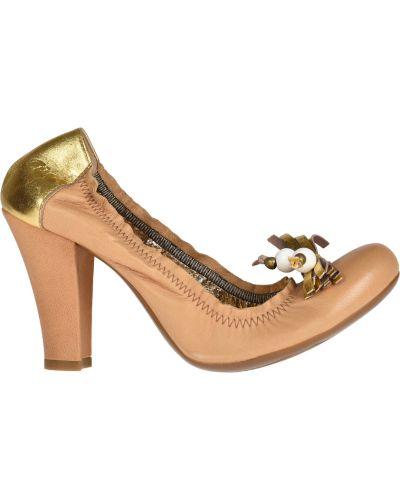 Кожаные туфли на каблуке Vic Matie