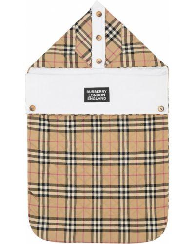 Beżowa torebka pikowana bawełniana Burberry
