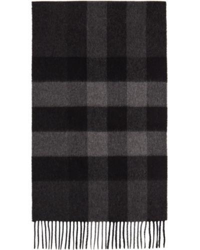 Czarny kaszmir szalik prostokątny Burberry