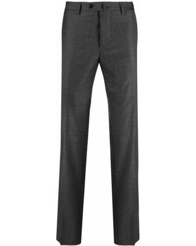 Spodnie wełniane z paskiem Mp Massimo Piombo