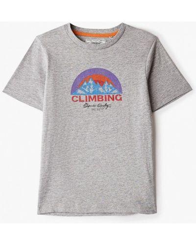 Серая с рукавами футболка Produkt