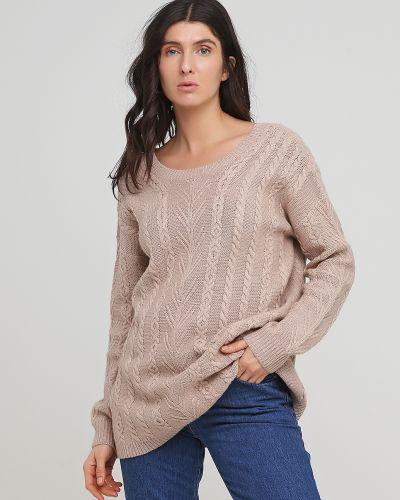 Бежевый свитер круглый с вырезом Kookai
