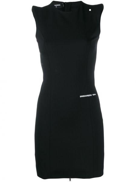 Платье на молнии черное Dsquared2