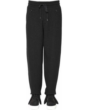 Czarne spodnie do biegania bawełniane Ports 1961