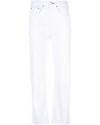 Укороченные джинсы с бахромой белые Rag & Bone/jean