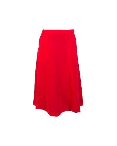 Шерстяная красная юбка миди Piccione•piccione