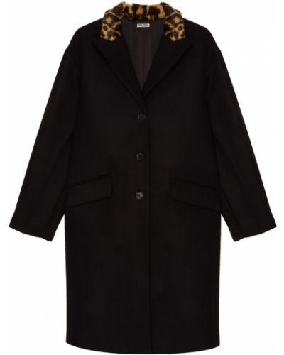 Пальто прямое однобортное Miu Miu