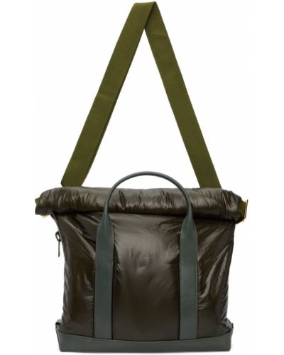Zielona torebka skórzana Sacai