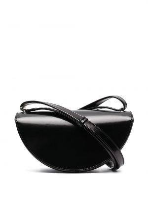 Z paskiem czarny skórzany etui na okulary Mm6 Maison Margiela