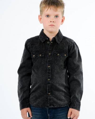 Рубашка с длинным рукавом серая с карманами Name It