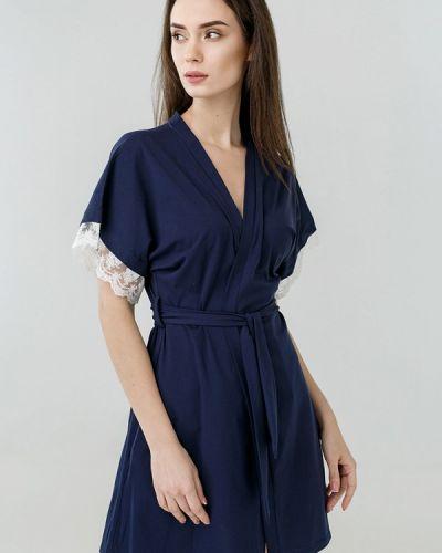 Домашний халат - синий Ora