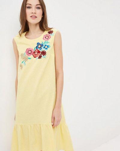 Желтое платье Indiano Natural
