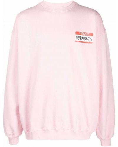 Флисовая толстовка - розовая Vetements
