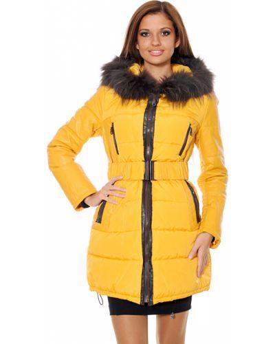 Кожаное пальто - желтое Mor`a