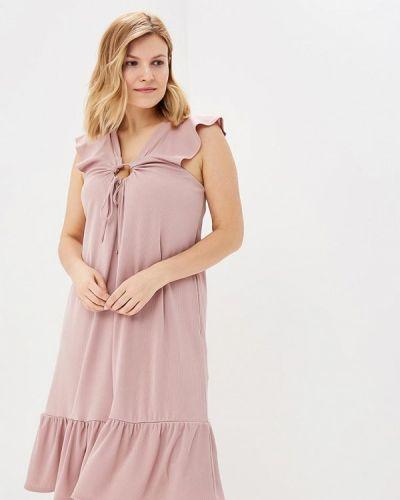 Платье розовое вязаное Lost Ink Plus