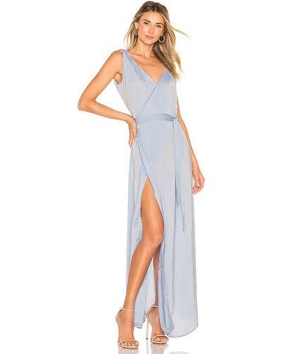 Niebieska sukienka kopertowa z wiskozy Aeryne