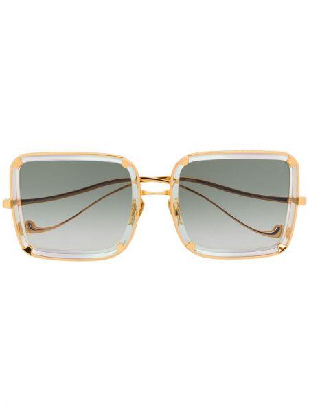 Złote okulary khaki Anna Karin Karlsson