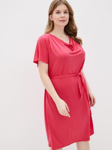 Повседневное платье розовое весеннее Samoon By Gerry Weber