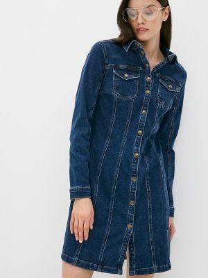 Синее джинсовое платье Marks & Spencer