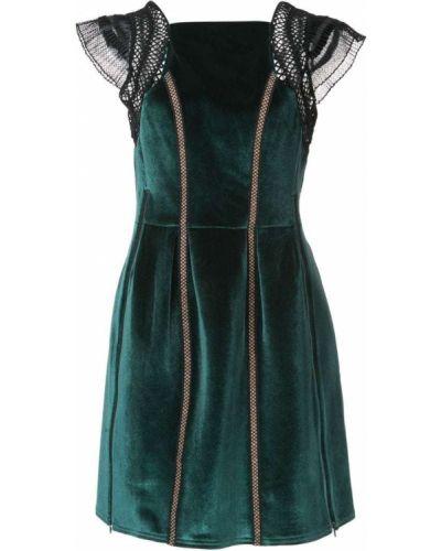 Платье мини с оборками бархатное Self-portrait
