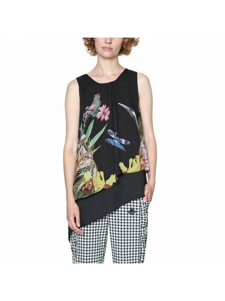 Блузка без рукавов с цветочным принтом Desigual