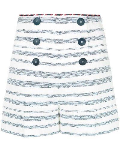 Однобортные белые шорты на пуговицах Paule Ka