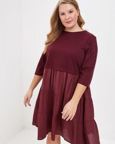 Повседневное платье весеннее красный Lost Ink Plus