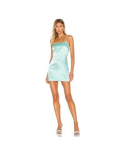 Шелковое платье мини на бретелях на молнии с подкладкой Michelle Mason