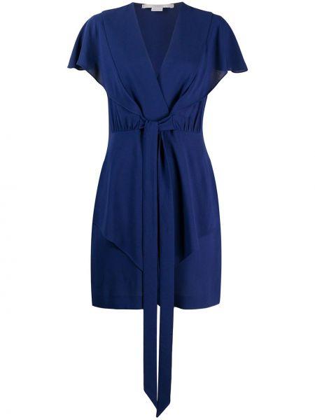 Sukienka mini chudy z dekoltem w serek Stella Mccartney