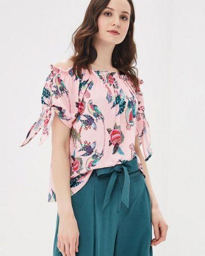 Розовая блузка с открытыми плечами Zarina