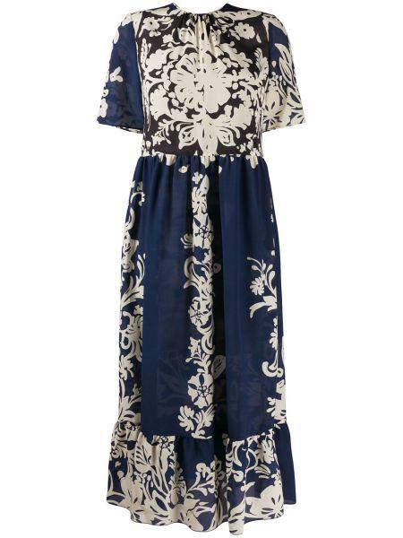 Платье мини миди с цветочным принтом Redvalentino