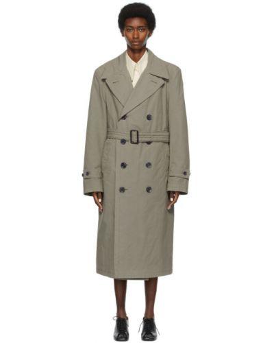 Długi płaszcz z paskiem bawełniany zapinane na guziki Lemaire