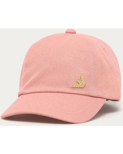 Różowy kapelusz bawełniany Ea7 Emporio Armani