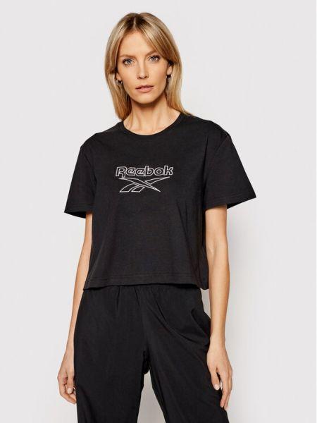 T-shirt - czarna Reebok Classic