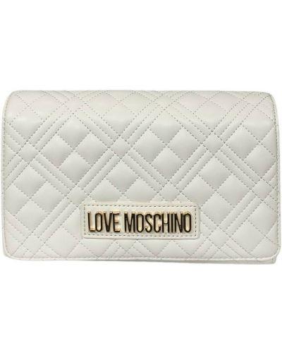 Biała kopertówka Moschino