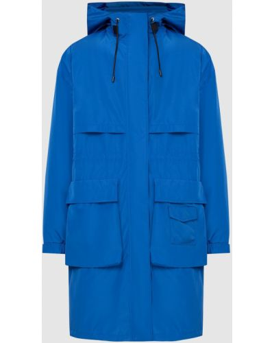 Синий плащ с карманами Mackage