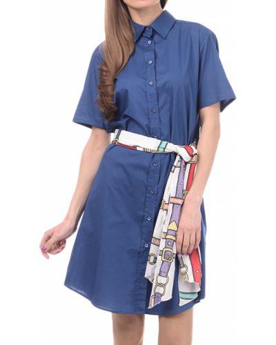 Синее платье Love Moschino