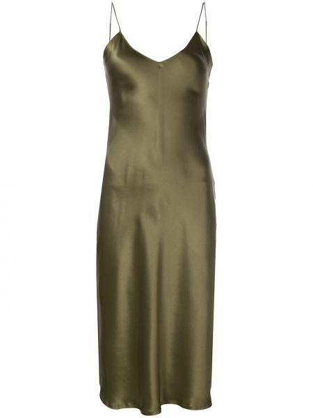 Платье с декольте шелковое Nili Lotan