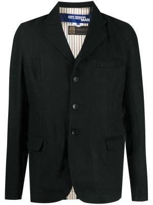 Однобортный черный классический пиджак с карманами на пуговицах Junya Watanabe Man