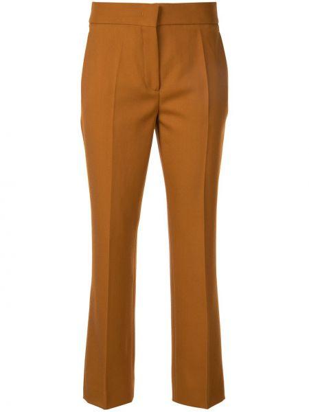Brązowe spodnie wełniane Cedric Charlier
