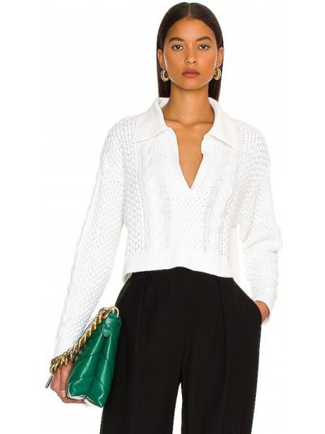 Sweter wełniany - biały L'academie