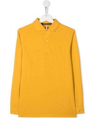 Хлопковая с рукавами рубашка с воротником Sun 68