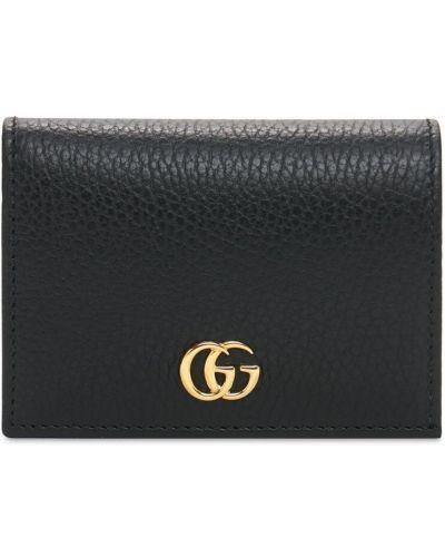 Czarny portfel skórzany Gucci